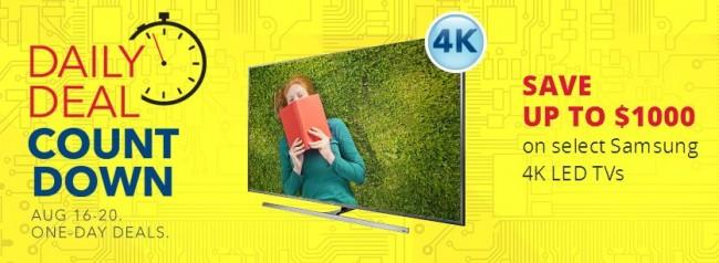 Best Buy 指定款三星4K电视最高立减1000元,Receiver、音响、沙发、电视柜等限时特卖!