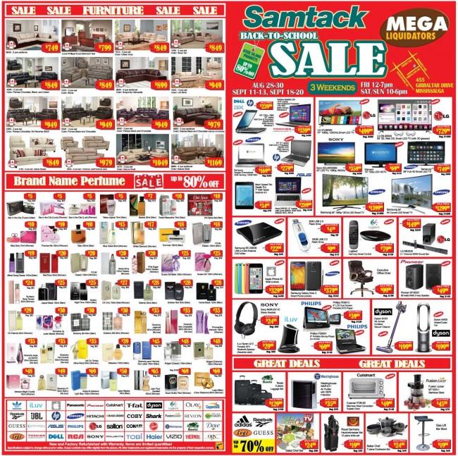 本周五开卖!Samtack Warehouse Sale返校季电脑、家电、家具、香水特卖会,全场2折起,8月21日-9月20日每个周末
