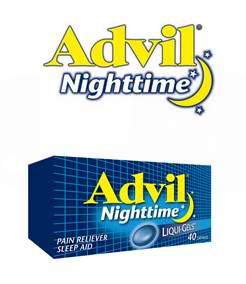 免费申请试用Advil Nighttime Liqui-Gels,止痛助睡眠