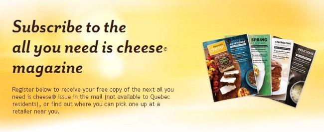 免费订阅杂志《All You Need is Cheese》