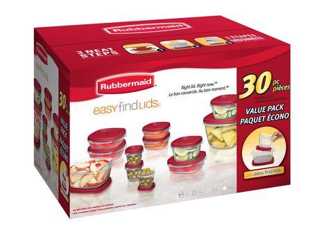 Rubbermaid 30 Pce Easy Find Lids Food Storage Set保鲜盒套装30件套8元特卖