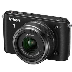开箱品NIKON 1 S1 SYSTEM 10.1MP CAMERA - BLACK - OPEN BOX微单相机