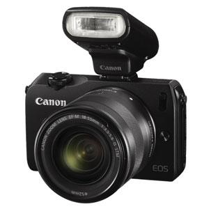 开箱品CANON EOS M 18MP DSLR CAMERA WITH 18-55MM LENS AND FLASH KIT - BLACK - OPEN BOX微单相机
