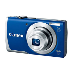 开箱品CANON POWERSHOT A2600 16MP CAMERA WITH MEMORY CARD - BLUE - OPEN BOX数码相机