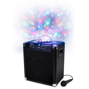 翻新ION AUDIO PARTY ROCKER LIVE WIRELESS SPEAKER WITH PARTY LIGHTS & APP CONTROL