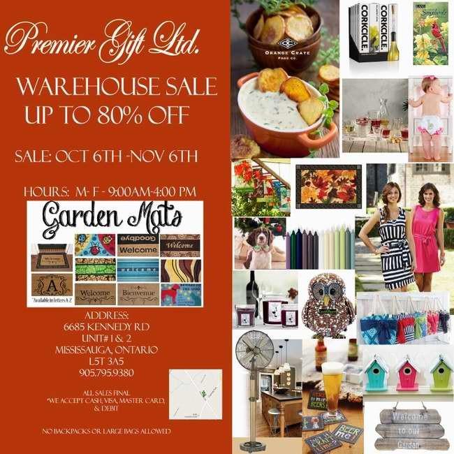 Premier Gift 2015年度礼品特卖会,女装、婴儿服饰及用品、家居装饰品、圣诞装饰品、厨房用品等2折起清仓(10月6日-11月6日)