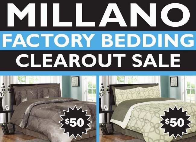 Millano factory bedding clearance sale 床上用品清仓特卖会全场2折起(10月22日-25日)