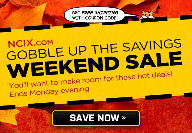 NCIX感恩节活动,电视、电脑及电子产品半价起特卖,满50元包邮!