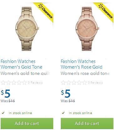 两款 Fashion Watches 女式时装表5元清仓