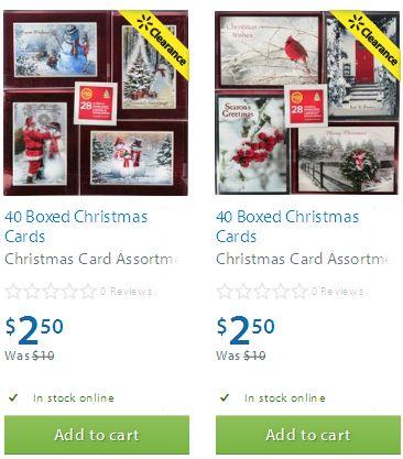 两款40 Boxed Christmas Cards圣诞卡2.5元清仓