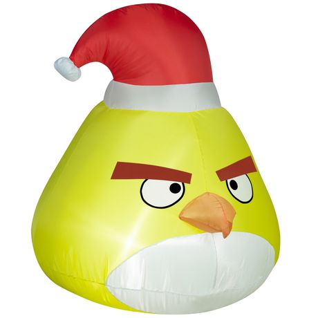 Airblown-Outdoor Yellow Bird with Santa Hat-Small-Angry Birds自充气圣诞帽愤怒小鸟