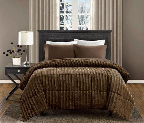 King Faux Fur Comforter- Brown 人造毛被 40元清仓