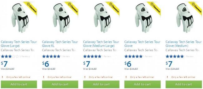 Callaway Tech Series Tour Glove 高尔夫球手套6-7元清仓