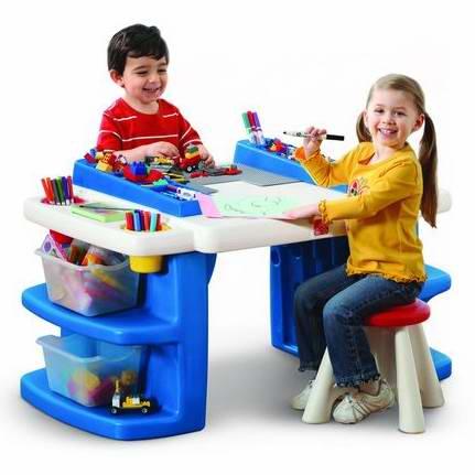 Step 2® Build & Store Block Activity Table多功能儿童活动桌