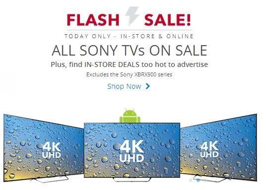 Sony电视及家庭影院系统等,最高可省1000元,仅限今日!