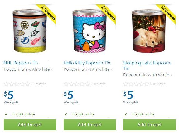 三款 Popcorn Tin 爆米花罐(内含三种口味爆米花)半价5元清仓
