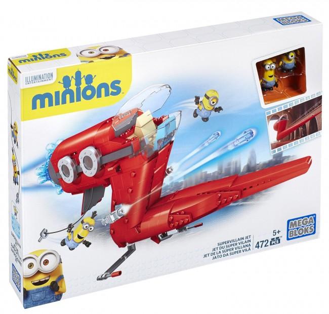 Mega Bloks Minions Supervillain Jet Building Set积木套装(495pcs) 24.99元特卖