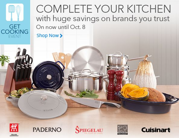 Best Buy厨房用品特卖活动,炊具锅具3折起,厨房用刀具5折起