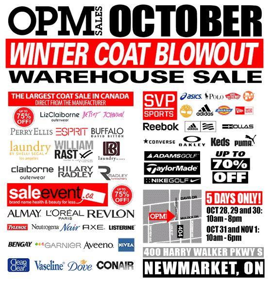 OPM 10月特卖会今日10点开卖!Adidas、Puma、Reebok等品牌鞋子服饰3折起特卖(10月28日-11月1日)