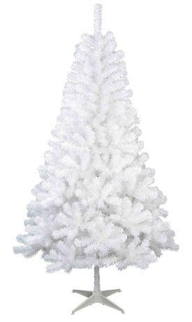 6.5-Ft Un-Lit Jackson Spruce 白色圣诞树半价25元清仓