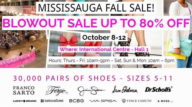 Designer Shoe Warehouse Sale名牌鞋子特卖会,3万双名牌鞋2折起清仓,额外9折,首日满30元再优惠10元(10月8日-12日)