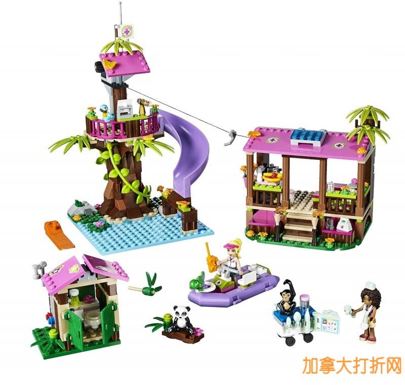 LEGO丛林救援基地(473pcs)特价35元,原价71.99元,包邮