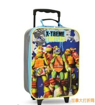 Teenage Mutant Ninja Turtles® 忍者神龟儿童拉杆行李箱特卖5.99元,原价19.99元