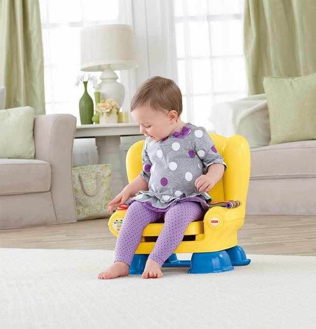 Fisher-Price Laugh & Learn Smart Stages Chair 智能互动学习椅22.99元特卖!