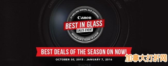Canon Best in Glass 本季最大折扣,指定款数码相机、单反相机、打印机特价销售,最高立减300元!全站包邮!