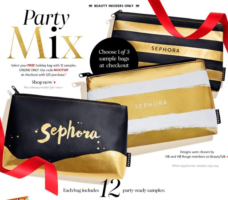 Sephora丝芙兰指定款化妆护肤美容产品3折起特卖,满25元送礼包(多款可选)!