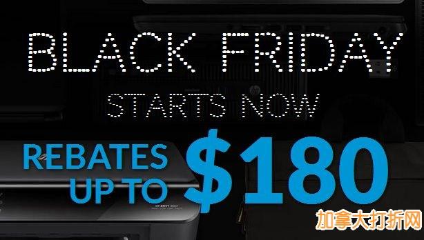 HP黑色星期五特卖开售!笔记本电脑299元起,无线打印机59.99元起,全站满75元立减15元!
