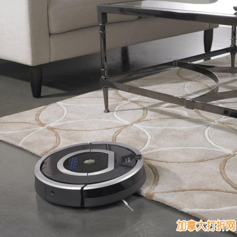 清洁效果绝佳,7天预约清洁!iRobot Roomba 780 第七代智能扫地机器人立减250元,449.99元特卖!