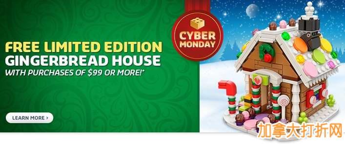Lego官网网购星期一特卖继续!上百款Lego积木5折起特价销售,售价低至3.98元起!满99元送限量版gingerbread house,全场包邮!