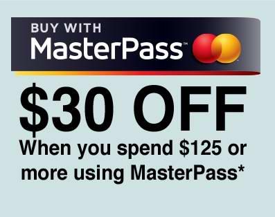 Lowe's 网购满125元通过MasterPass结账立减30元!11月11日截止