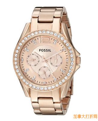 亚马逊特卖fossil Women's ES2811 时尚女士腕表103元,原价151.20元,包邮