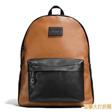 时尚新款!COACH Campus Backpack 运动小牛皮男女旅行双肩包420元,原价595元