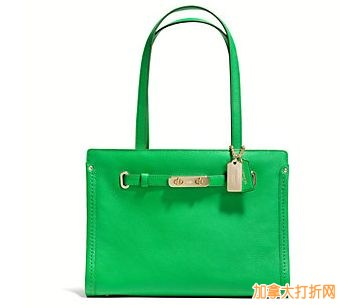 COACH  Swagger Small Tote In Polished Pebble单肩手提包 170.62元,原价350元,包邮