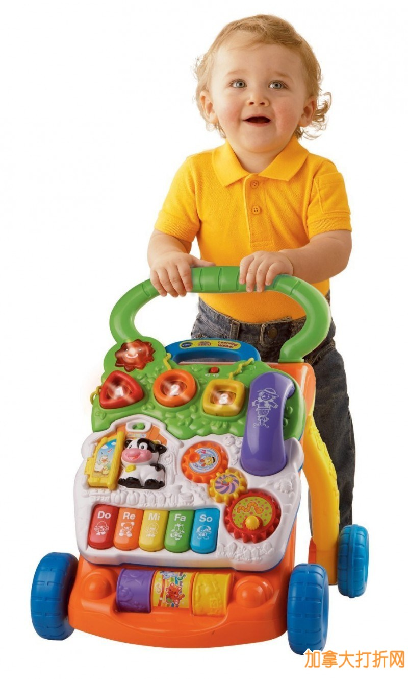 VTech Sit-to-Stand Learning Walker伟易达多功能音乐儿童车特价32.51元,原价:49.99元,包邮
