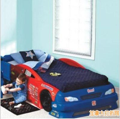 Step 2® Stock Car Convertible Bed 儿童跑车型单人床特价229.99元,原价399.99元