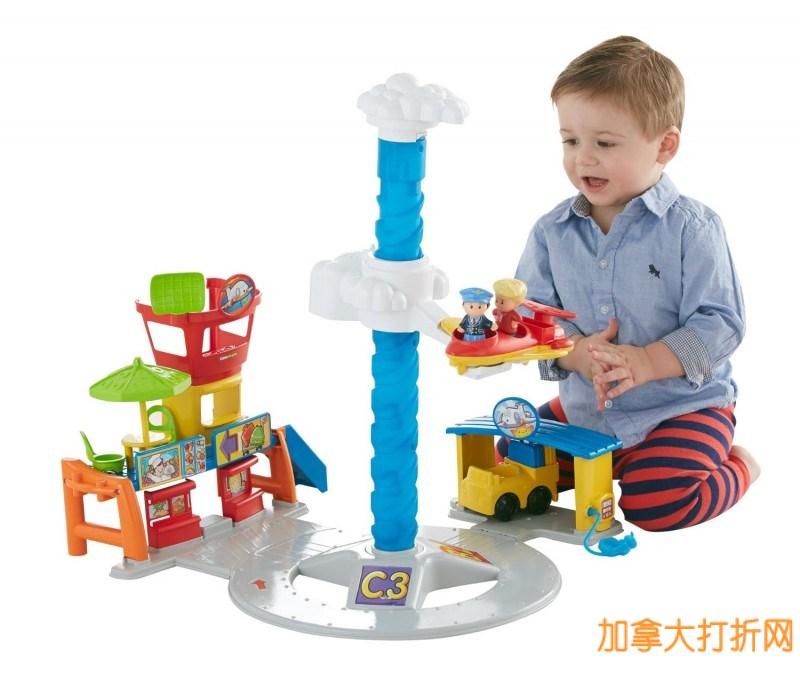 历史新低!Fisher-Price 费雪牌机场玩具 19.99元,原价 54.99元