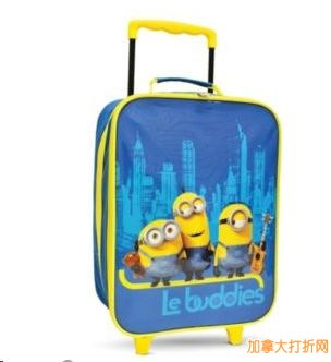 MINIONS™ Kids' Roller Luggage 小黄人儿童滚轮拉杆行李箱特价8.99元,原价29.99元