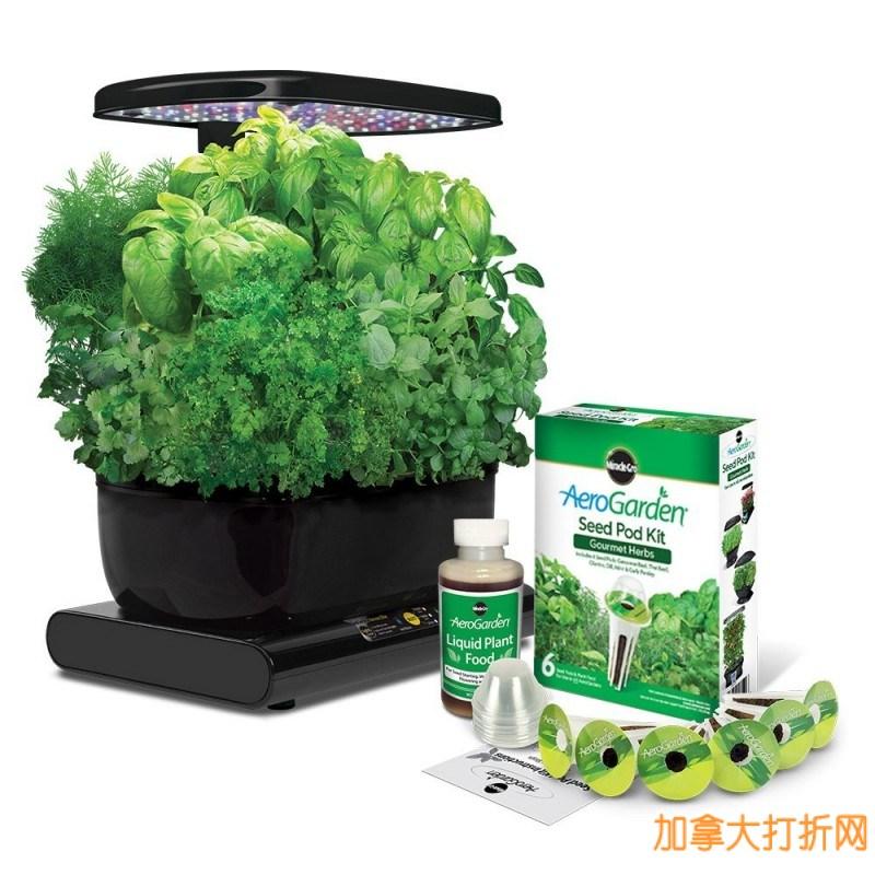 种菜种花四季如荫,净化室内空气!Miracle-Gro 室内小花园套装121.99元特卖,附送种子!仅限今日!