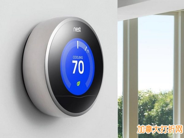 iPod之父的又一力作!史上最智能学习型恒温器,可显著节省家中能源损耗!Nest第二代 Nest Learning Thermostat T200477 智能温控器6折150元限时特卖!