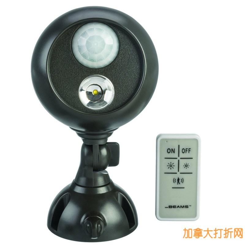 Mr. Beams MB371 电池供电可遥控室外自动感应灯4.8折26.97元限量特卖!