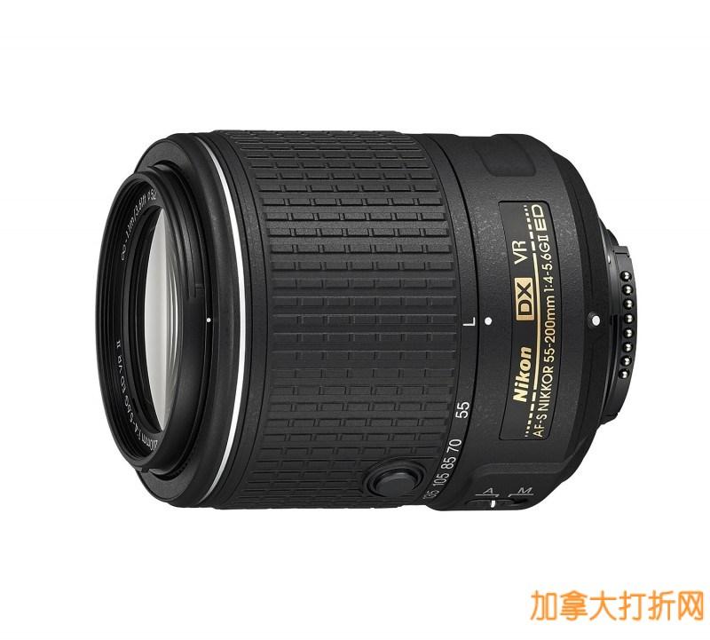NIKON 尼康 AF-S DX 变焦尼克尔55-200mm F/4-5.6G ED VR II镜头5.7折199.95元特卖!