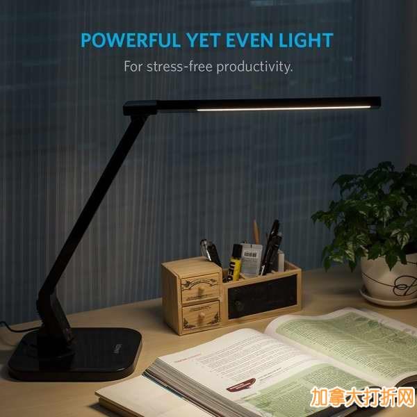 光线柔和,保护视力!Anker Lumos多功能触控式LED护眼节能台灯(内置定时器、USB充电)