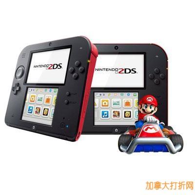 Nintendo任天堂2DS游戏机带《马里奥赛车7》游戏套装(三种颜色可选)立减40元,仅售89.96元!