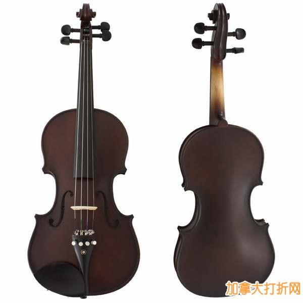 Cecilio CVN-EAS 高级黑檀木仿古小提琴(Size 3/4,配琴盒)2.4折99.99元特卖!