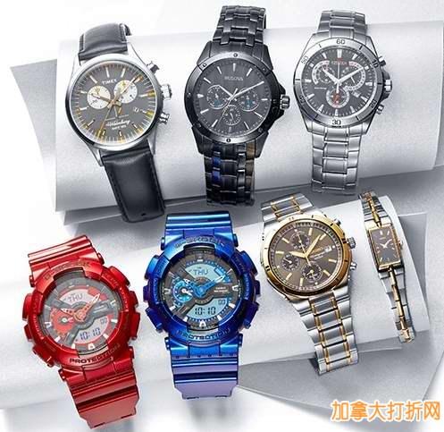 The Bay 400余款Casio、Seiko、Bulova、Citizen、Timex精品男女手表36元起限时特卖,包Express快递!仅限今日!