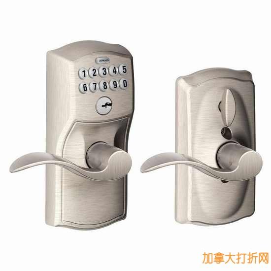 Amazon精选34款Schlage西勒奇普通门锁、电子密码门锁、自行车锁5折19.92元起特卖!